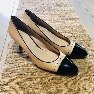 Franco Sarto Cap Toe Patent Leather Heels